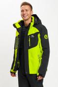 Оптом Горнолыжная куртка мужская зеленого цвета 77012Z в Екатеринбурге, фото 5