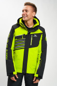 Оптом Горнолыжная куртка мужская зеленого цвета 77012Z в Екатеринбурге, фото 2
