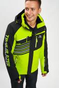 Оптом Горнолыжная куртка мужская зеленого цвета 77012Z в Екатеринбурге, фото 3