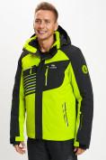 Оптом Горнолыжная куртка мужская зеленого цвета 77012Z в Екатеринбурге, фото 7