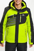 Оптом Горнолыжная куртка мужская зеленого цвета 77012Z в Екатеринбурге