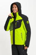 Оптом Горнолыжная куртка мужская зеленого цвета 77012Z в Екатеринбурге, фото 8
