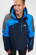Оптом Горнолыжная куртка мужская синего цвета 77013S в Екатеринбурге, фото 2
