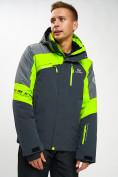 Оптом Горнолыжная куртка мужская зеленого цвета 77013Z в Екатеринбурге, фото 2