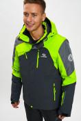 Оптом Горнолыжная куртка мужская зеленого цвета 77013Z в Екатеринбурге, фото 3
