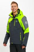 Оптом Горнолыжная куртка мужская зеленого цвета 77013Z в Екатеринбурге, фото 5
