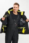 Оптом Горнолыжная куртка мужская черного цвета 77014Ch в Екатеринбурге, фото 7