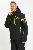 Оптом Горнолыжная куртка мужская черного цвета 77014Ch в Екатеринбурге, фото 4