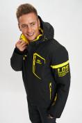 Оптом Горнолыжная куртка мужская черного цвета 77014Ch в Екатеринбурге, фото 2
