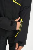 Оптом Горнолыжная куртка мужская черного цвета 77014Ch в Екатеринбурге, фото 11