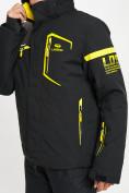 Оптом Горнолыжная куртка мужская черного цвета 77014Ch в Екатеринбурге, фото 9