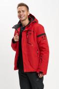 Оптом Горнолыжная куртка мужская красного цвета 77014Kr в Екатеринбурге, фото 5