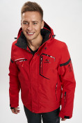 Оптом Горнолыжная куртка мужская красного цвета 77014Kr в Екатеринбурге, фото 3