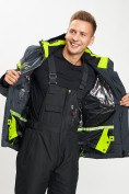 Оптом Горнолыжная куртка мужская темно-серого цвета 77014TC в Екатеринбурге, фото 9