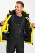 Оптом Горнолыжная куртка мужская желтого цвета 77015J в Екатеринбурге, фото 10