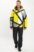 Оптом Горнолыжная куртка мужская желтого цвета 77015J в Екатеринбурге, фото 11