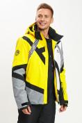 Оптом Горнолыжная куртка мужская желтого цвета 77015J в Екатеринбурге, фото 12
