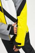 Оптом Горнолыжная куртка мужская желтого цвета 77015J в Екатеринбурге, фото 9