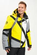 Оптом Горнолыжная куртка мужская желтого цвета 77015J в Екатеринбурге, фото 4