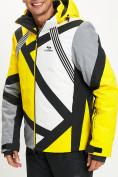 Оптом Горнолыжная куртка мужская желтого цвета 77015J в Екатеринбурге, фото 5