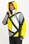 Оптом Горнолыжная куртка мужская желтого цвета 77015J в Екатеринбурге, фото 6