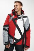 Оптом Горнолыжная куртка мужская красного цвета 77015Kr в Екатеринбурге, фото 6