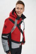 Оптом Горнолыжная куртка мужская красного цвета 77015Kr в Екатеринбурге, фото 2