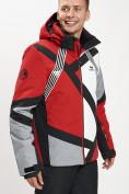 Оптом Горнолыжная куртка мужская красного цвета 77015Kr в Екатеринбурге, фото 5