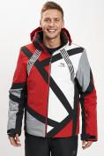 Оптом Горнолыжная куртка мужская красного цвета 77015Kr в Екатеринбурге