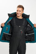 Оптом Горнолыжная куртка мужская темно-зеленого цвета 77015TZ в Екатеринбурге, фото 10