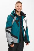 Оптом Горнолыжная куртка мужская темно-зеленого цвета 77015TZ в Екатеринбурге, фото 5