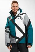 Оптом Горнолыжная куртка мужская темно-зеленого цвета 77015TZ в Екатеринбурге, фото 2