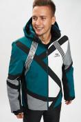 Оптом Горнолыжная куртка мужская темно-зеленого цвета 77015TZ в Екатеринбурге, фото 4