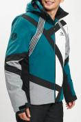 Оптом Горнолыжная куртка мужская темно-зеленого цвета 77015TZ в Екатеринбурге, фото 8