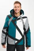 Оптом Горнолыжная куртка мужская темно-зеленого цвета 77015TZ в Екатеринбурге