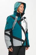 Оптом Горнолыжная куртка мужская темно-зеленого цвета 77015TZ в Екатеринбурге, фото 6
