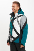 Оптом Горнолыжная куртка мужская темно-зеленого цвета 77015TZ в Екатеринбурге, фото 3