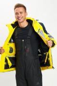 Оптом Горнолыжная куртка мужская желтого цвета 77016J в Екатеринбурге, фото 10