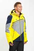 Оптом Горнолыжная куртка мужская желтого цвета 77016J в Екатеринбурге, фото 3