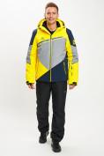 Оптом Горнолыжная куртка мужская желтого цвета 77016J в Екатеринбурге, фото 11