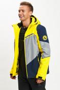 Оптом Горнолыжная куртка мужская желтого цвета 77016J в Екатеринбурге, фото 4