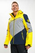 Оптом Горнолыжная куртка мужская желтого цвета 77016J в Екатеринбурге, фото 2