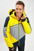Оптом Горнолыжная куртка мужская желтого цвета 77016J в Екатеринбурге, фото 5