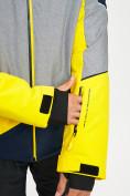 Оптом Горнолыжная куртка мужская желтого цвета 77016J в Екатеринбурге, фото 8