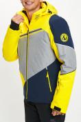 Оптом Горнолыжная куртка мужская желтого цвета 77016J в Екатеринбурге, фото 9