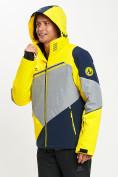 Оптом Горнолыжная куртка мужская желтого цвета 77016J в Екатеринбурге, фото 6