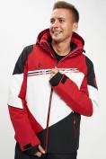 Оптом Горнолыжная куртка мужская красного цвета 77016Kr в Екатеринбурге