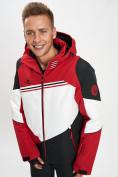 Оптом Горнолыжная куртка мужская красного цвета 77016Kr в Екатеринбурге, фото 2
