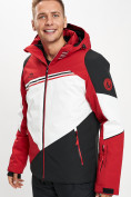Оптом Горнолыжная куртка мужская красного цвета 77016Kr в Екатеринбурге, фото 5