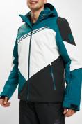 Оптом Горнолыжная куртка мужская темно-зеленого цвета 77016TZ в Екатеринбурге, фото 6